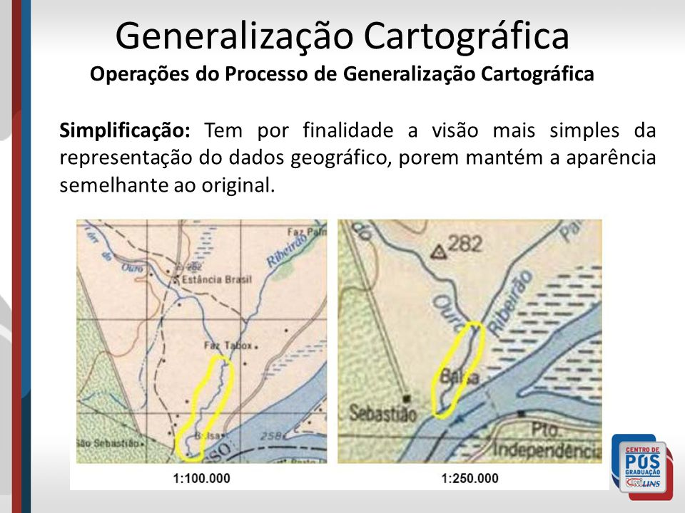 Generalização Cartográfica Operações do Processo de Generalização Cartográfica