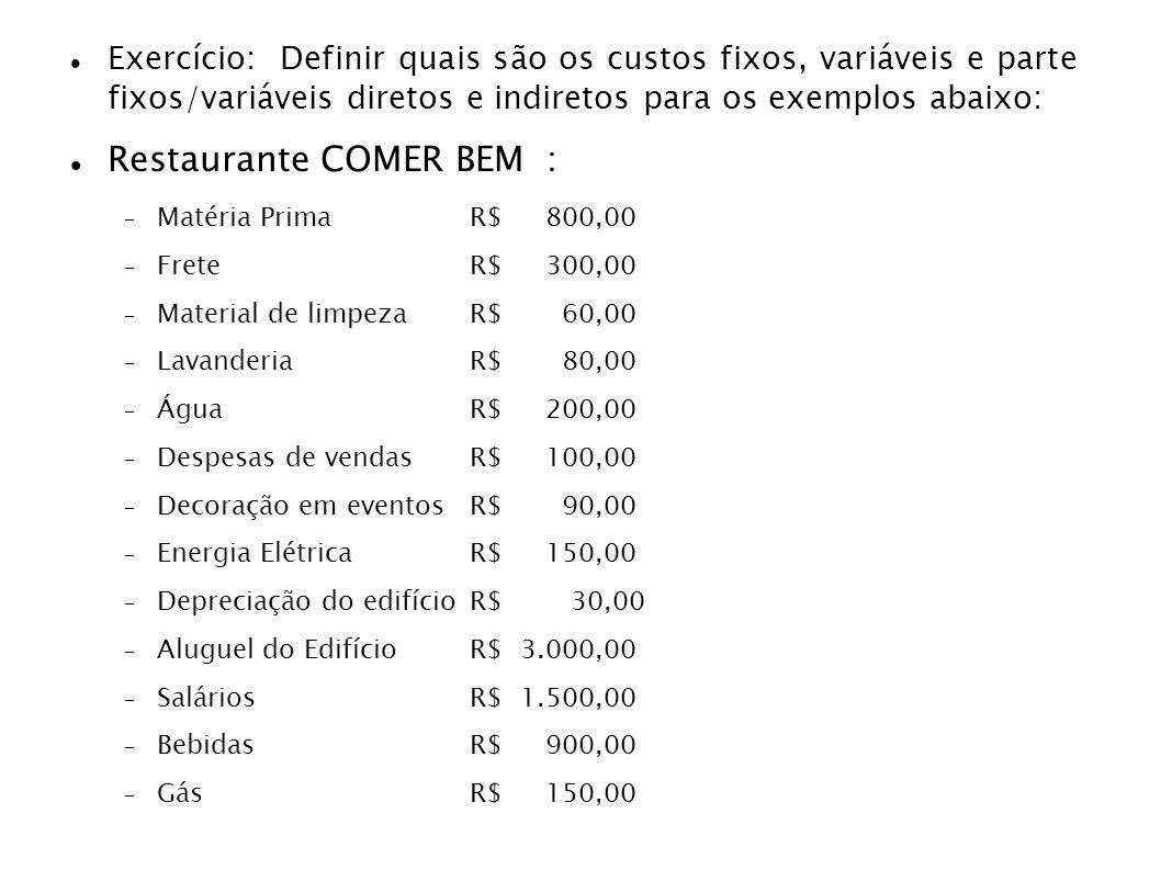 Restaurante COMER BEM :