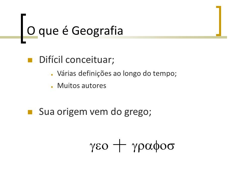 O que é Geografia geo grafos Difícil conceituar;