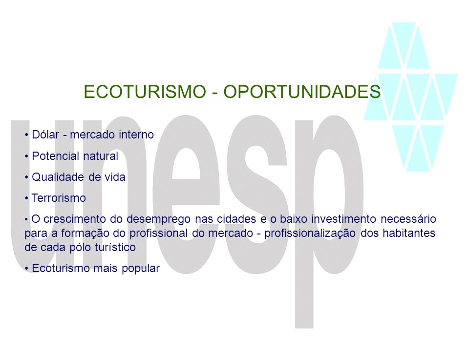 ECOTURISMO - OPORTUNIDADES