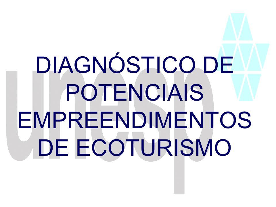 DIAGNÓSTICO DE POTENCIAIS EMPREENDIMENTOS DE ECOTURISMO