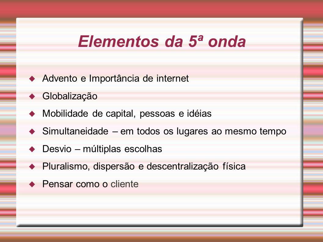 Elementos da 5ª onda Advento e Importância de internet Globalização