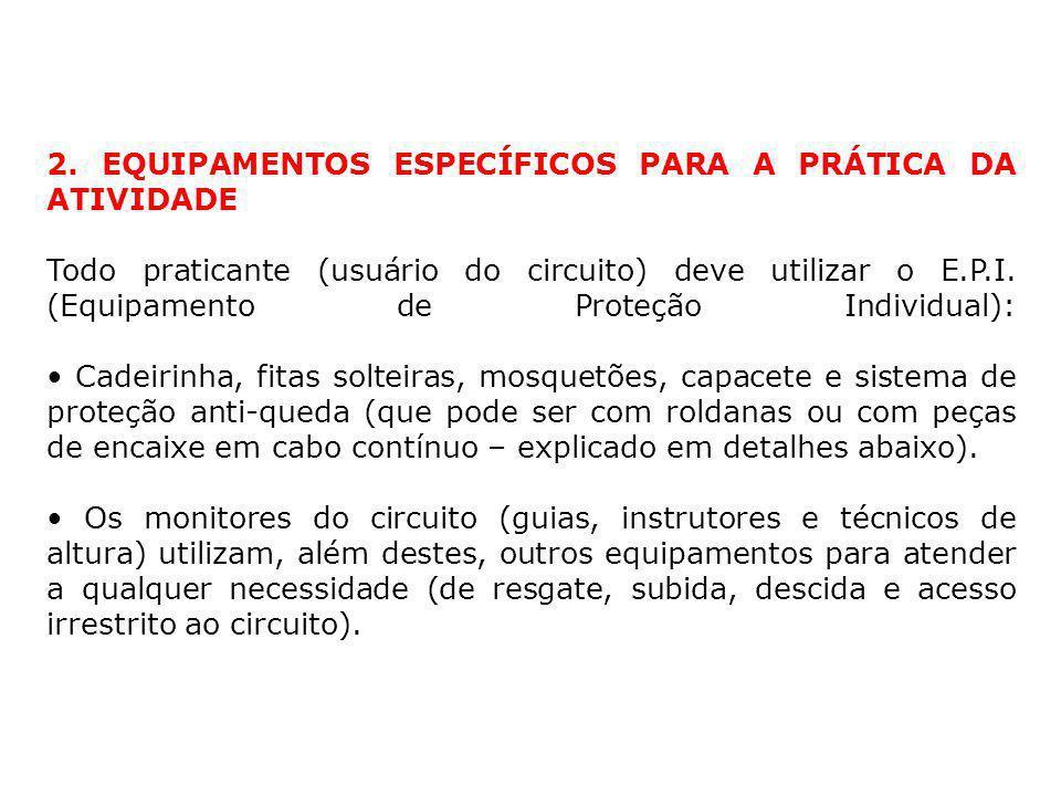 2. EQUIPAMENTOS ESPECÍFICOS PARA A PRÁTICA DA ATIVIDADE