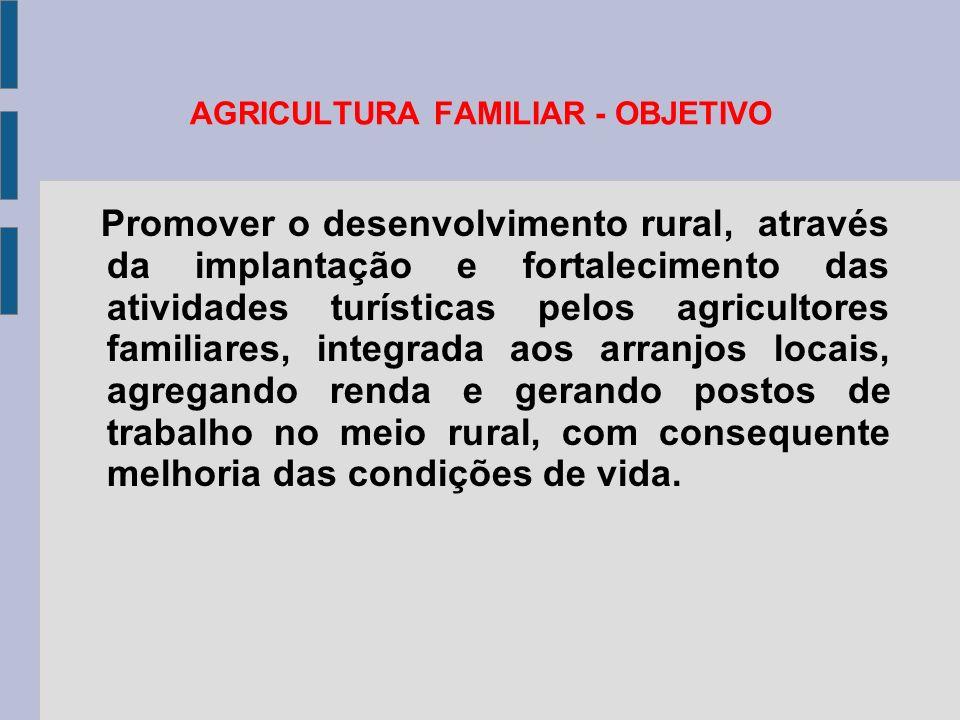 AGRICULTURA FAMILIAR - OBJETIVO