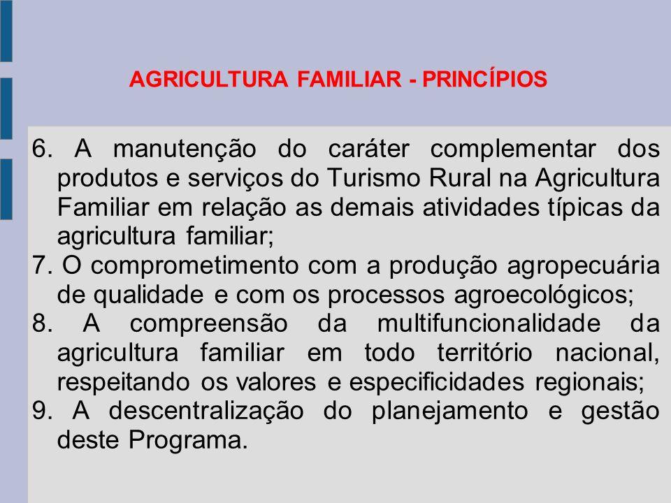 AGRICULTURA FAMILIAR - PRINCÍPIOS