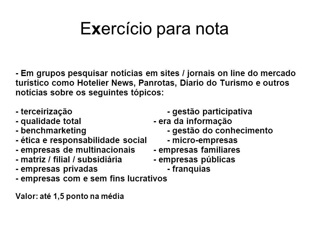 Exercício para nota