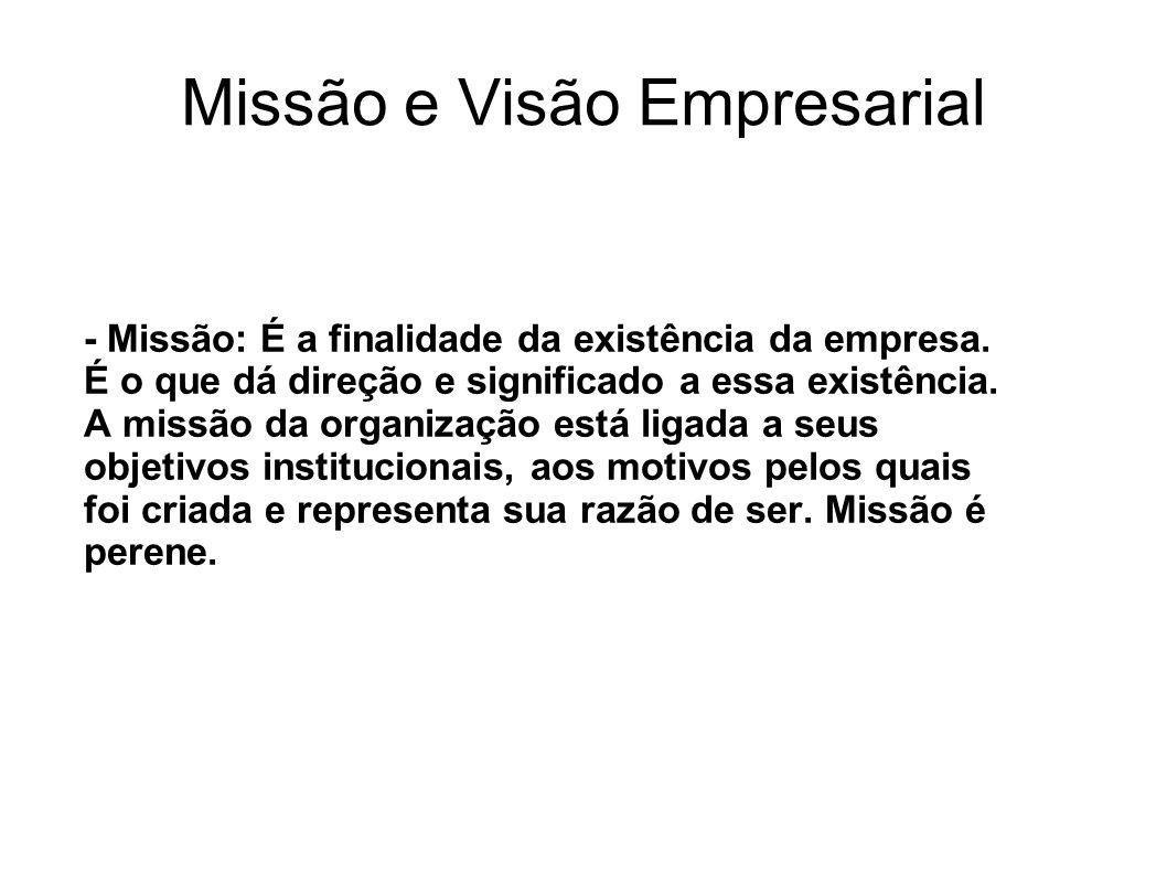 Missão e Visão Empresarial