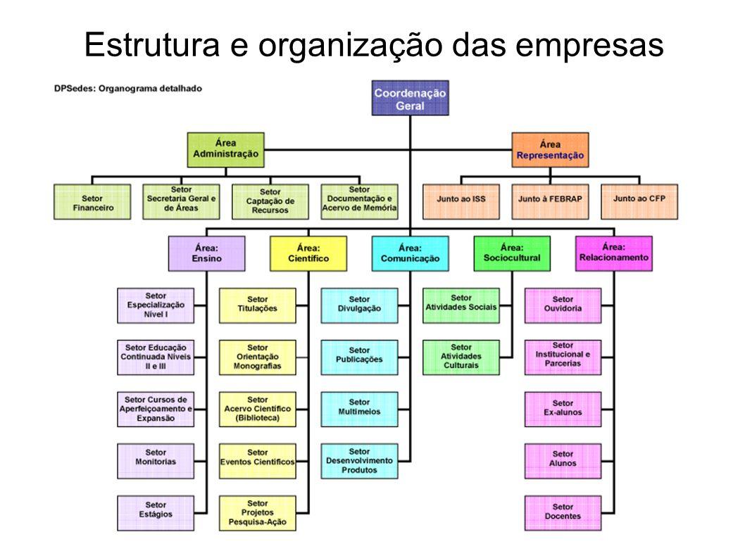 Estrutura e organização das empresas