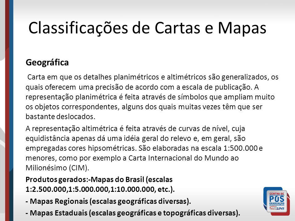 Classificações de Cartas e Mapas