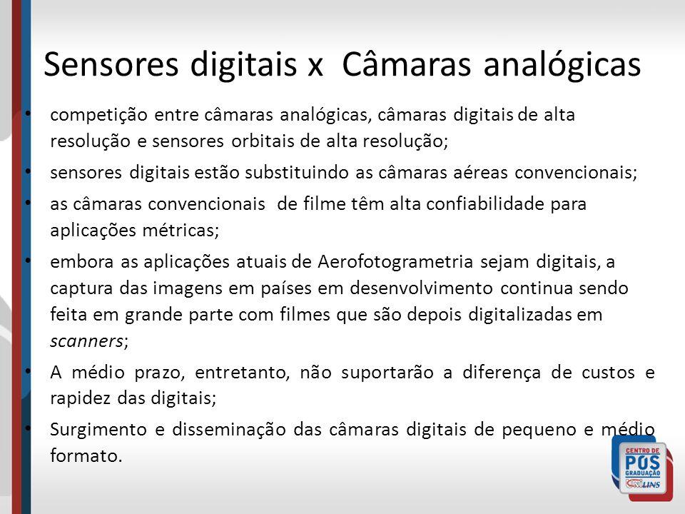 Sensores digitais x Câmaras analógicas