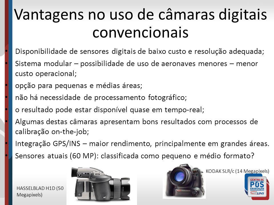 Vantagens no uso de câmaras digitais convencionais