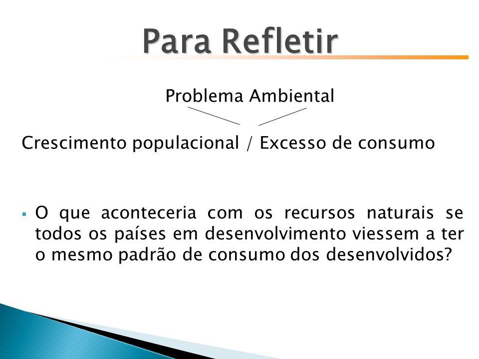 Para Refletir Problema Ambiental