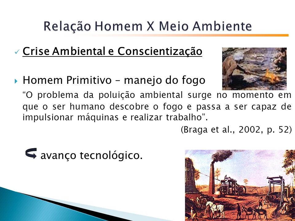 Relação Homem X Meio Ambiente
