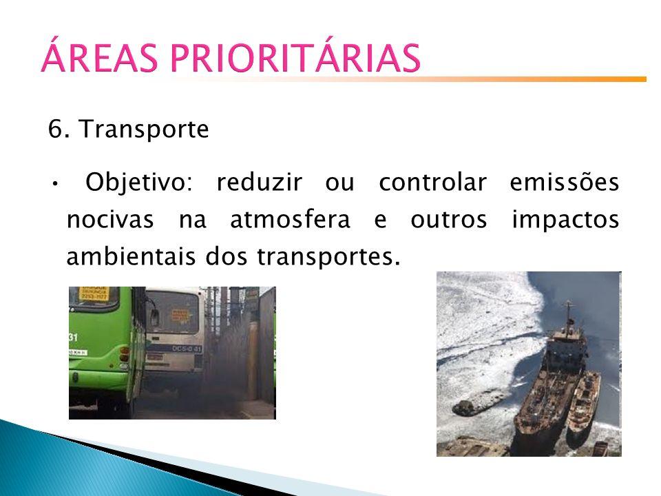 ÁREAS PRIORITÁRIAS 6. Transporte