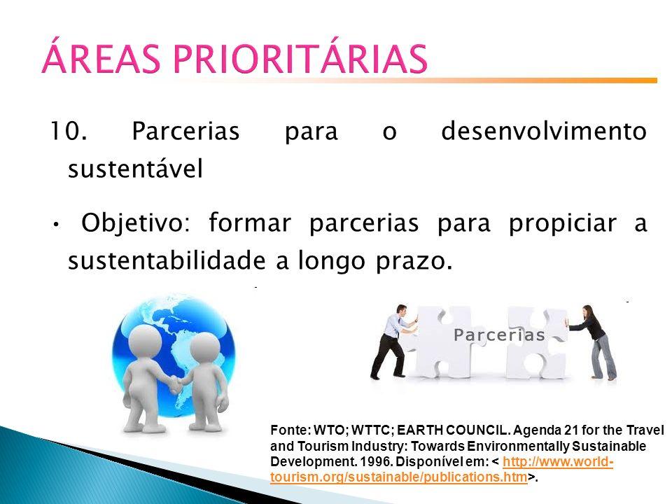 ÁREAS PRIORITÁRIAS 10. Parcerias para o desenvolvimento sustentável