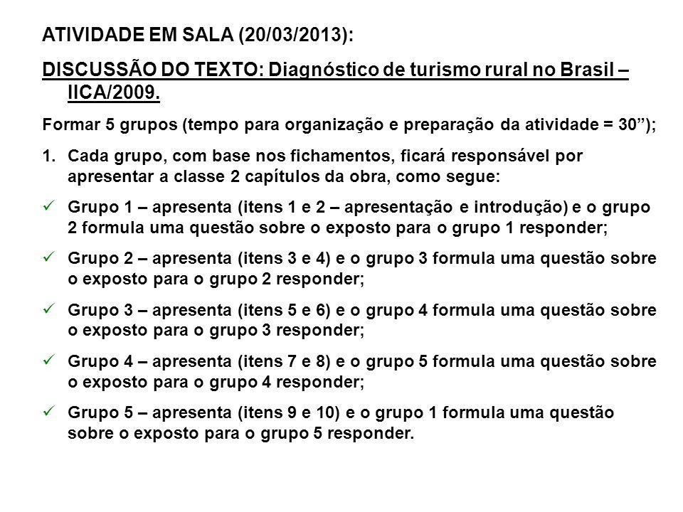 ATIVIDADE EM SALA (20/03/2013):