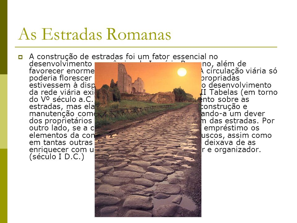As Estradas Romanas