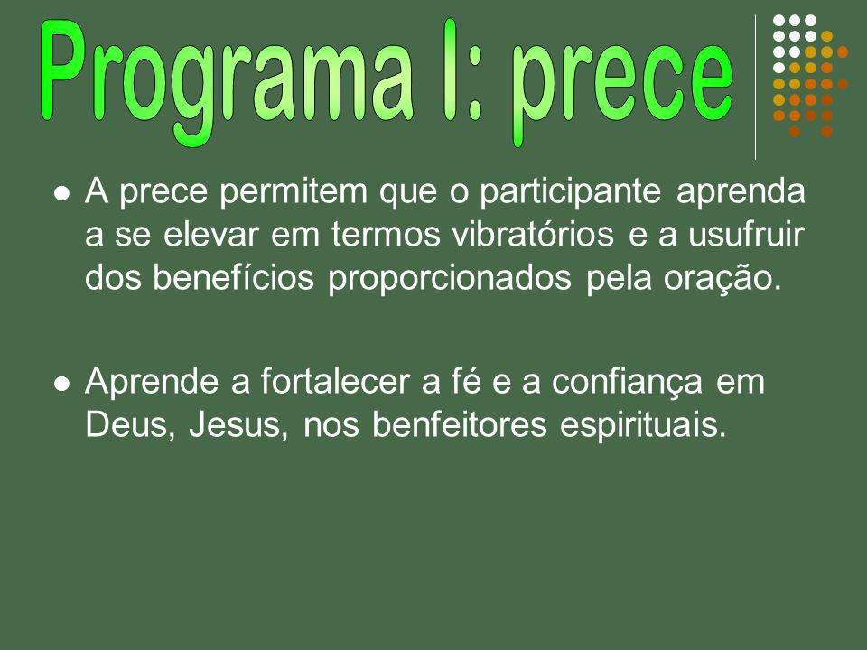 Programa I: prece