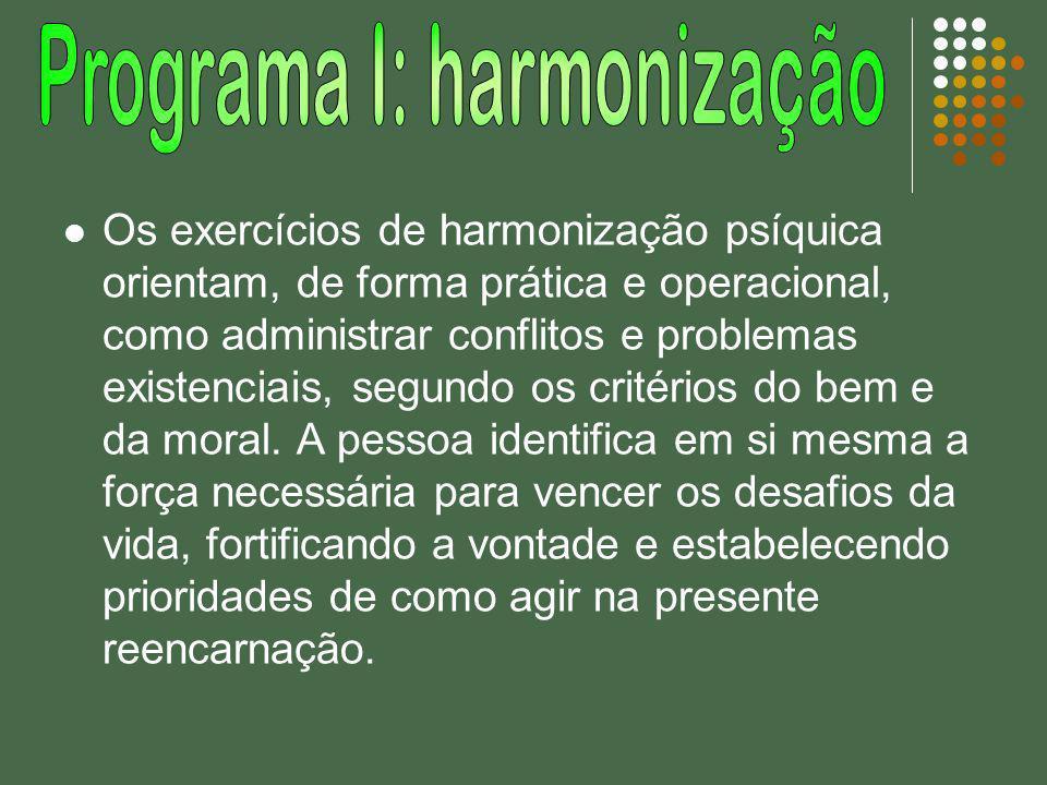 Programa I: harmonização