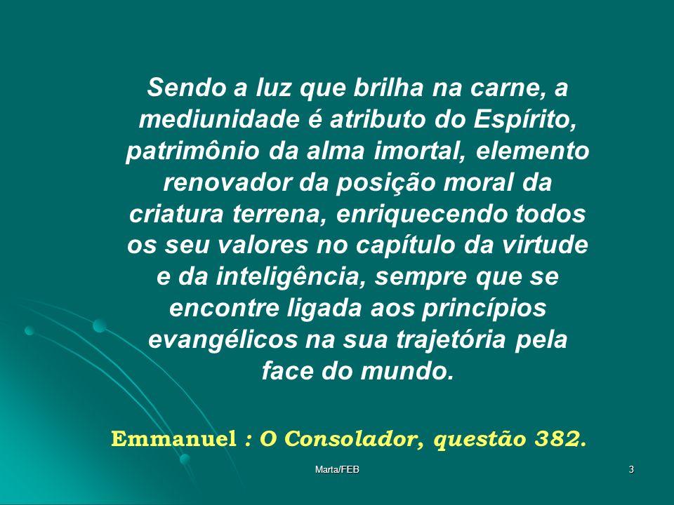 Emmanuel : O Consolador, questão 382.