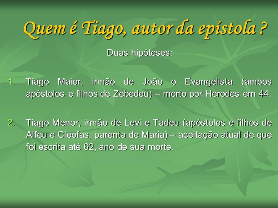 Quem é Tiago, autor da epístola