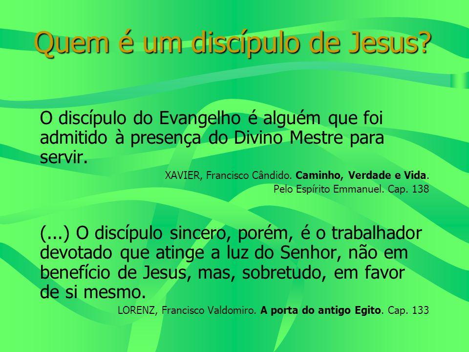 Quem é um discípulo de Jesus