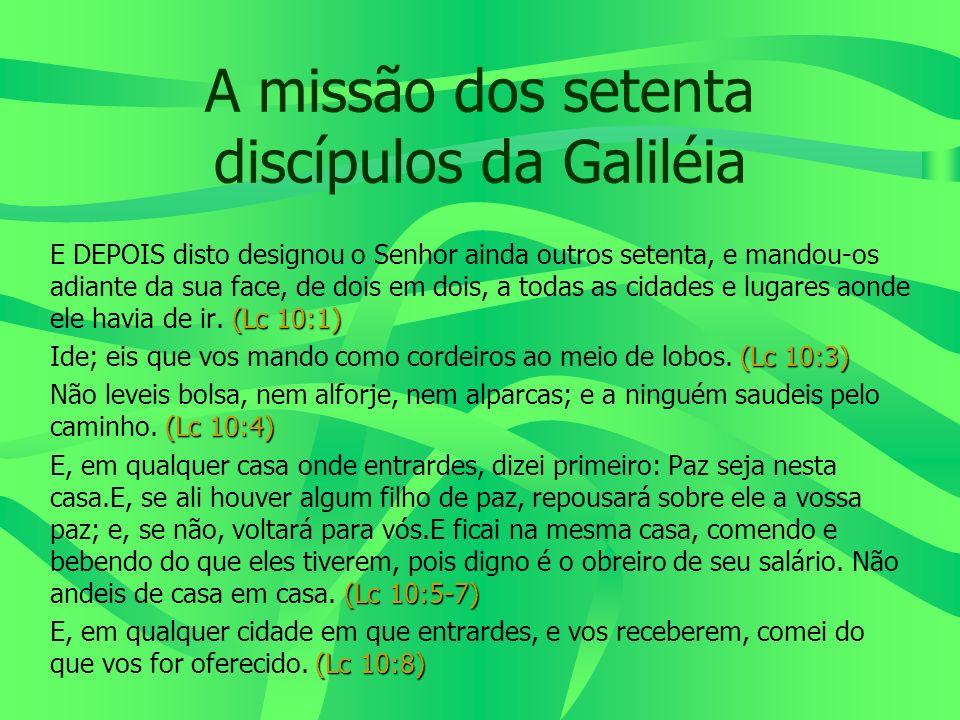 A missão dos setenta discípulos da Galiléia