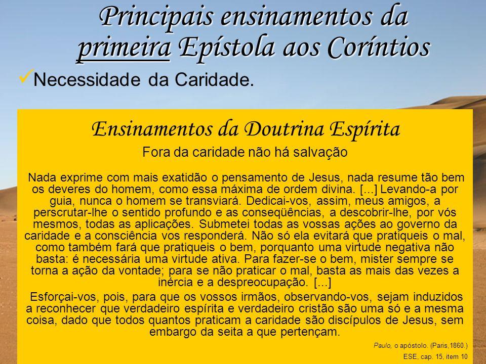 Principais ensinamentos da primeira Epístola aos Coríntios