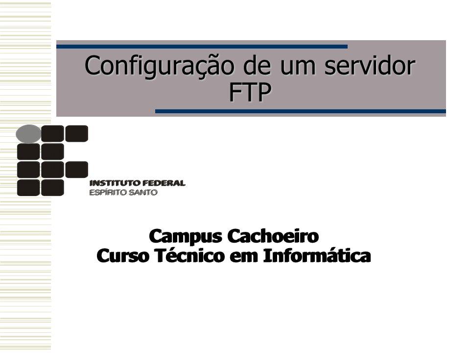 Configuração de um servidor FTP