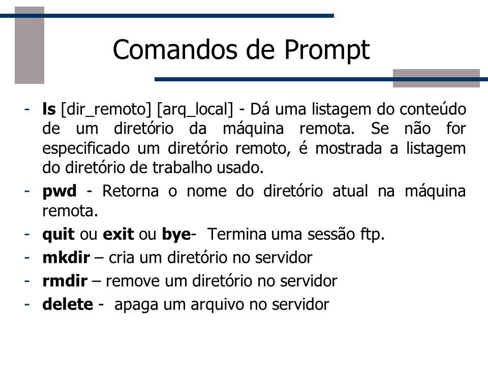 Comandos de Prompt