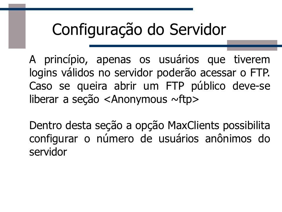 Configuração do Servidor