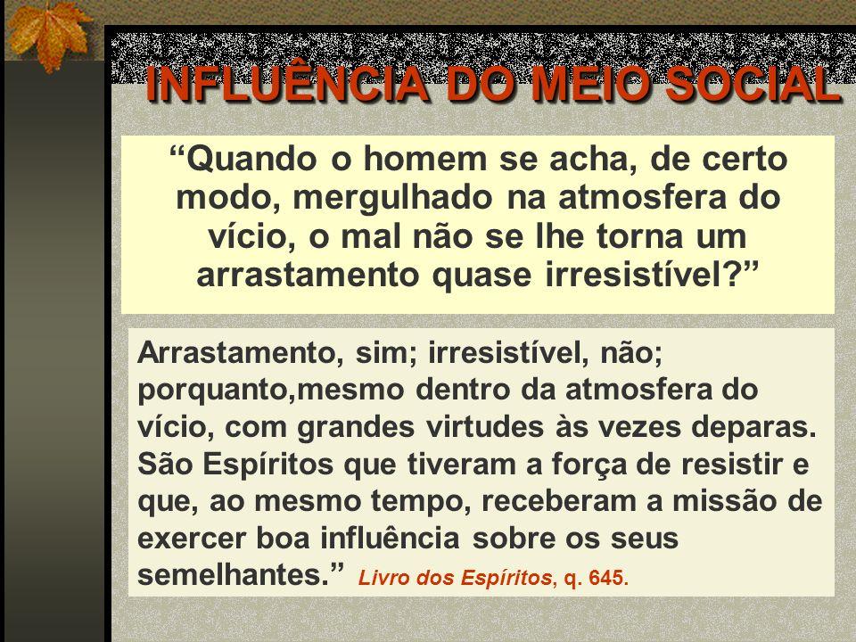 INFLUÊNCIA DO MEIO SOCIAL