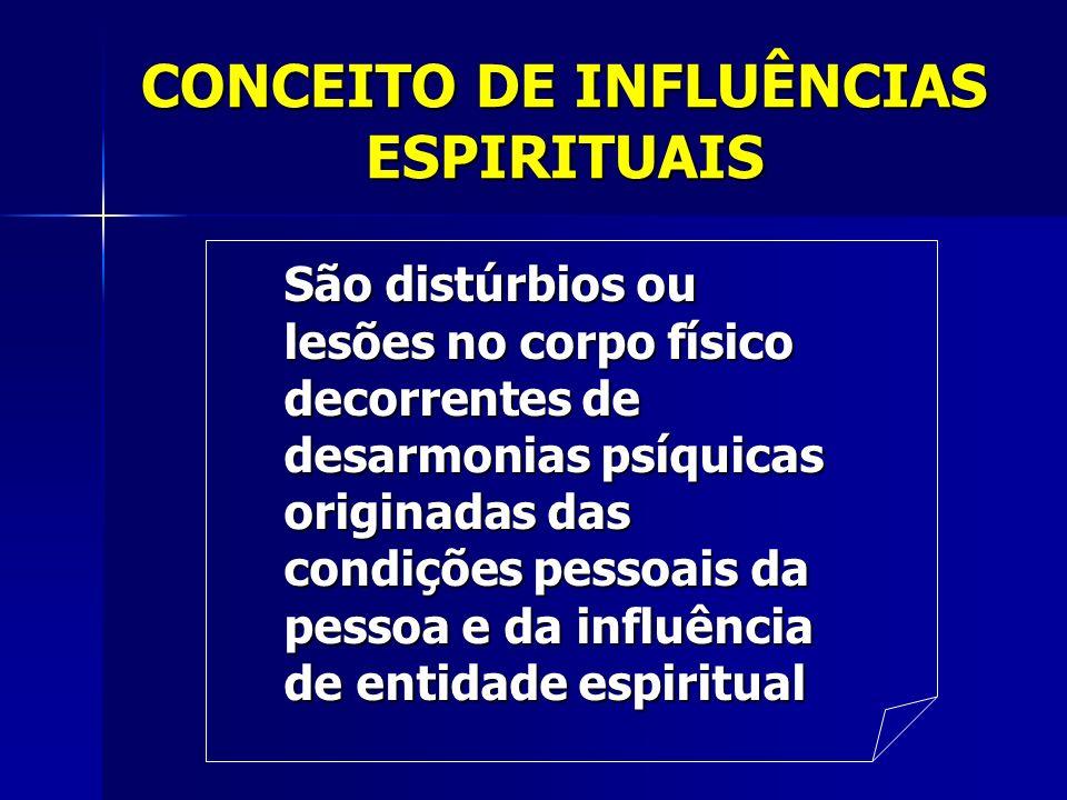 CONCEITO DE INFLUÊNCIAS ESPIRITUAIS