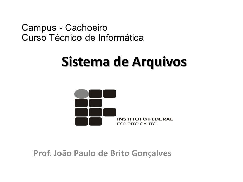 Prof. João Paulo de Brito Gonçalves