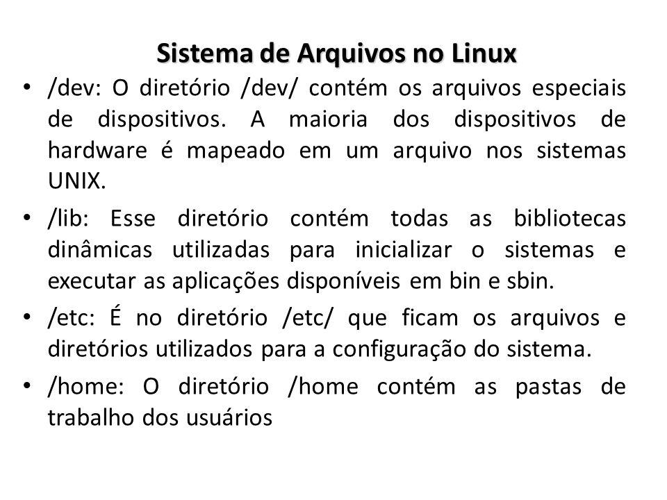 Sistema de Arquivos no Linux