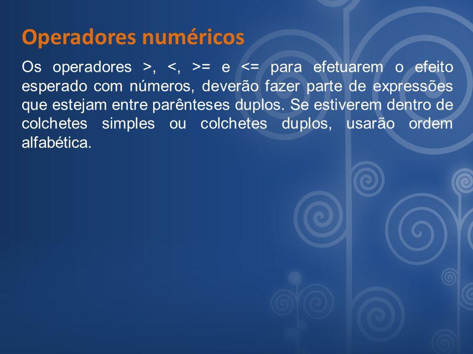 Operadores numéricos