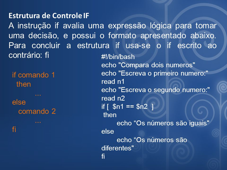Estrutura de Controle IF