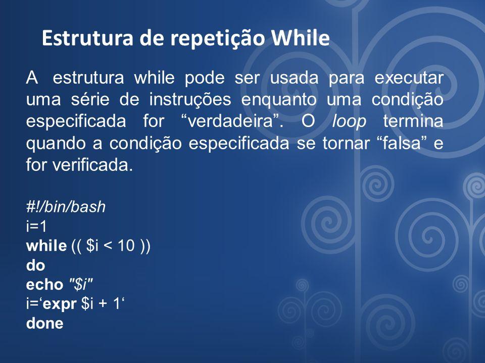 Estrutura de repetição While