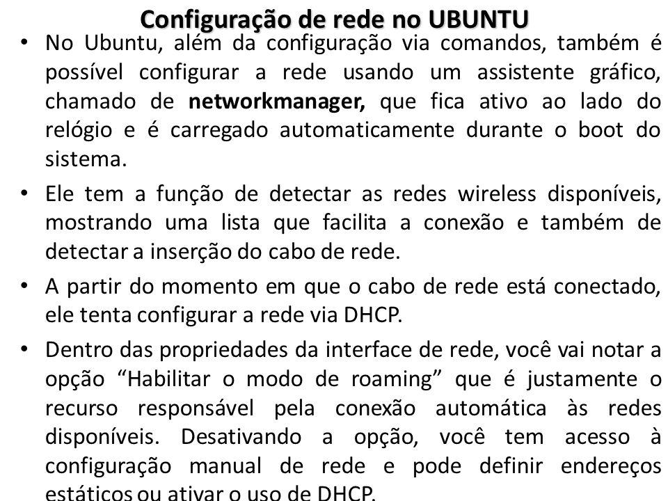 Configuração de rede no UBUNTU