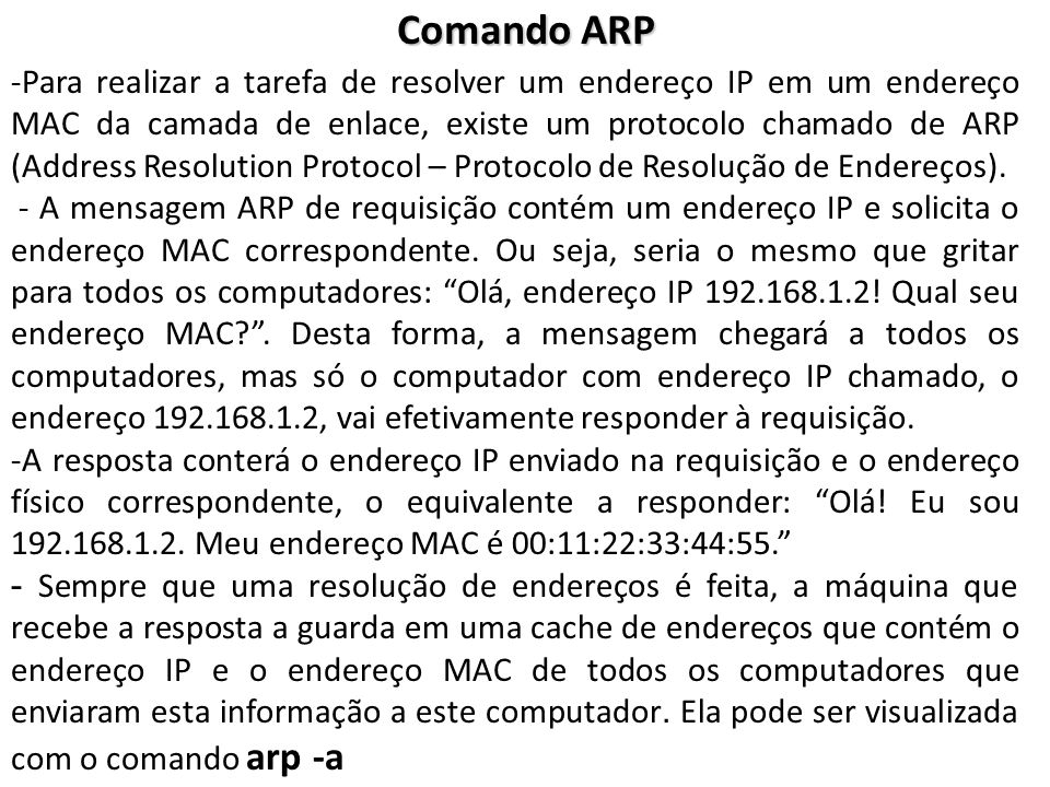 Comando ARP