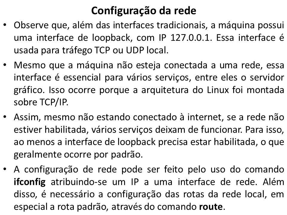 Configuração da rede