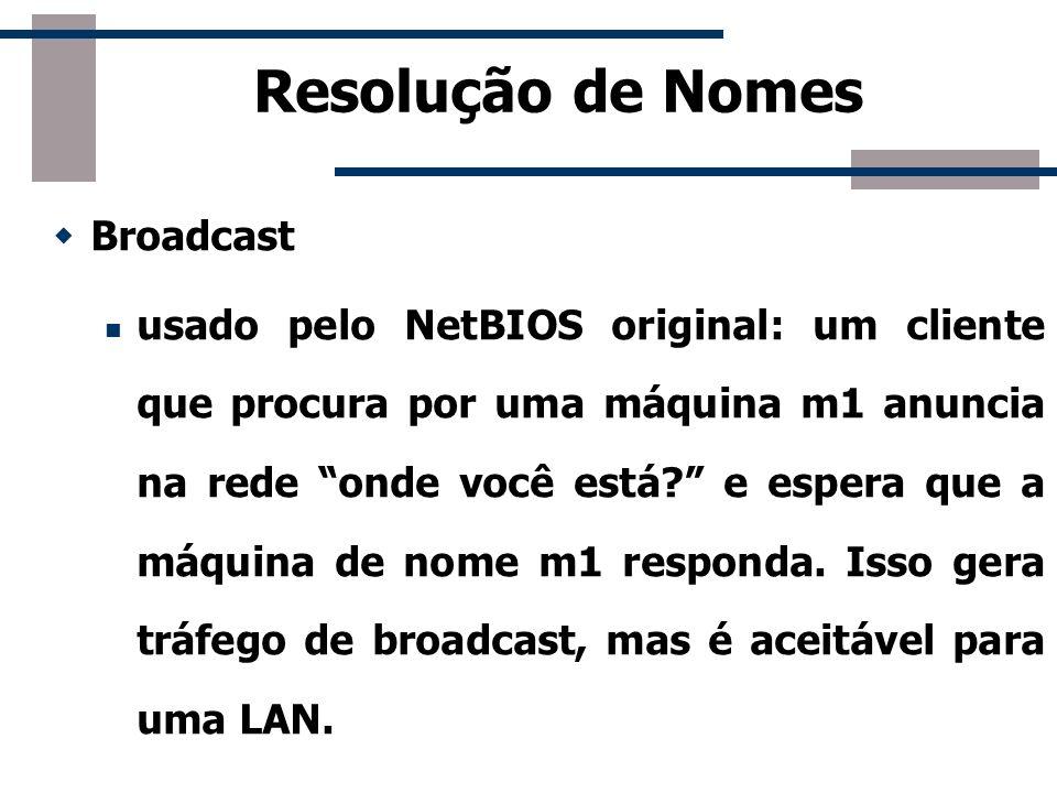 Resolução de Nomes Broadcast