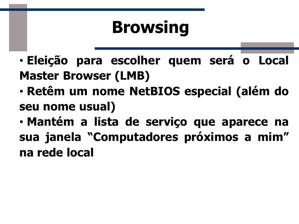 Browsing Eleição para escolher quem será o Local Master Browser (LMB)