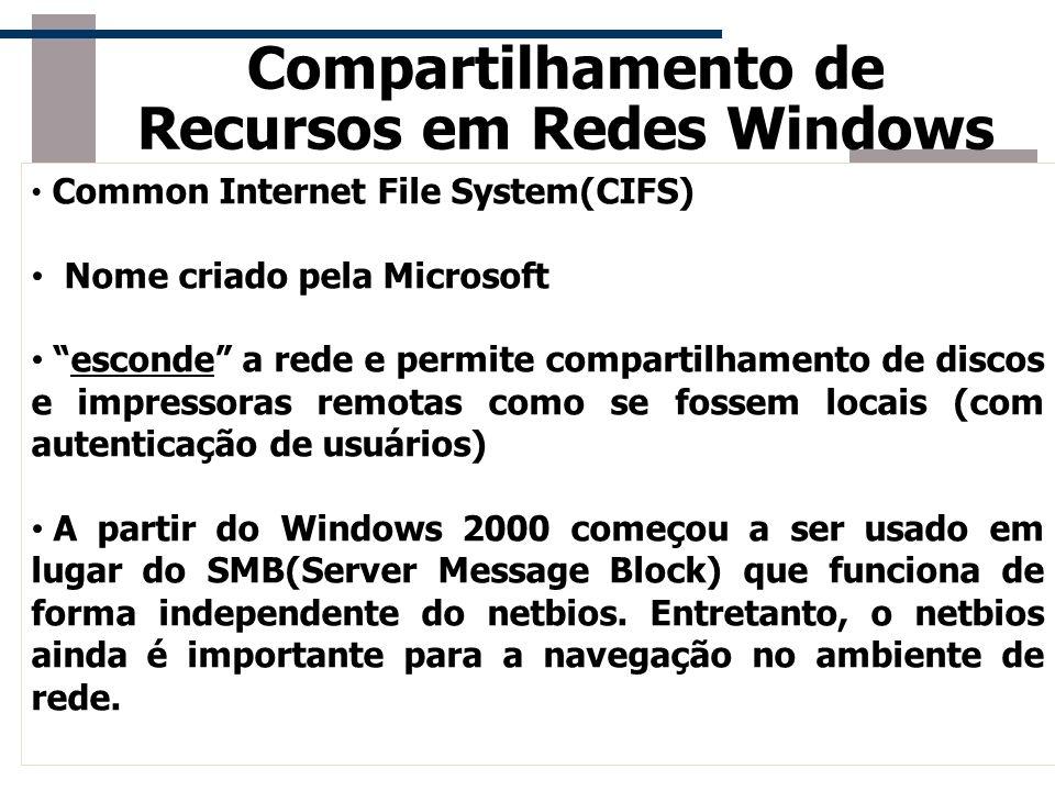 Compartilhamento de Recursos em Redes Windows