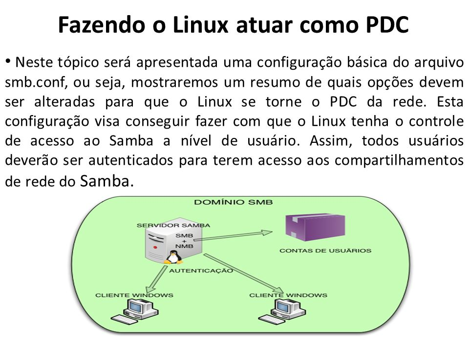 Fazendo o Linux atuar como PDC
