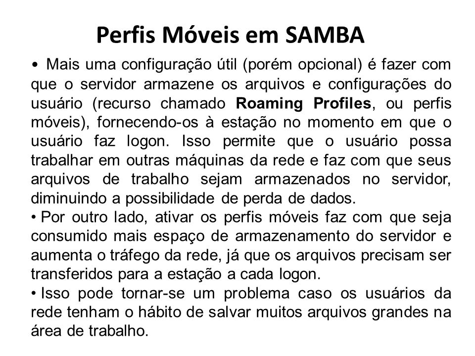 Perfis Móveis em SAMBA