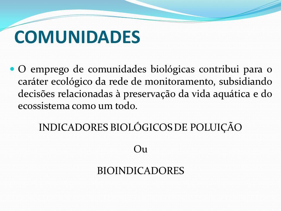 INDICADORES BIOLÓGICOS DE POLUIÇÃO