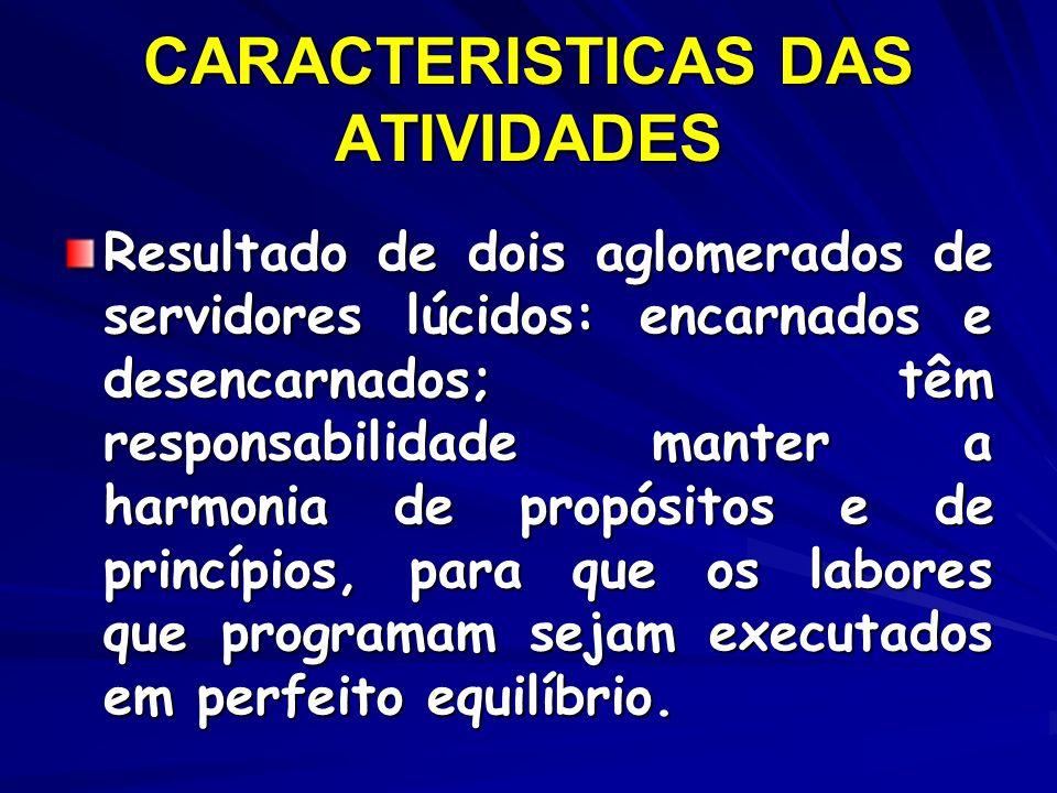 CARACTERISTICAS DAS ATIVIDADES