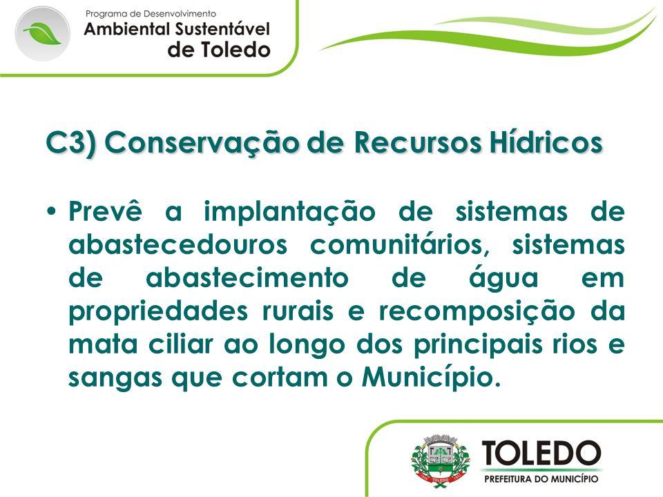 C3) Conservação de Recursos Hídricos