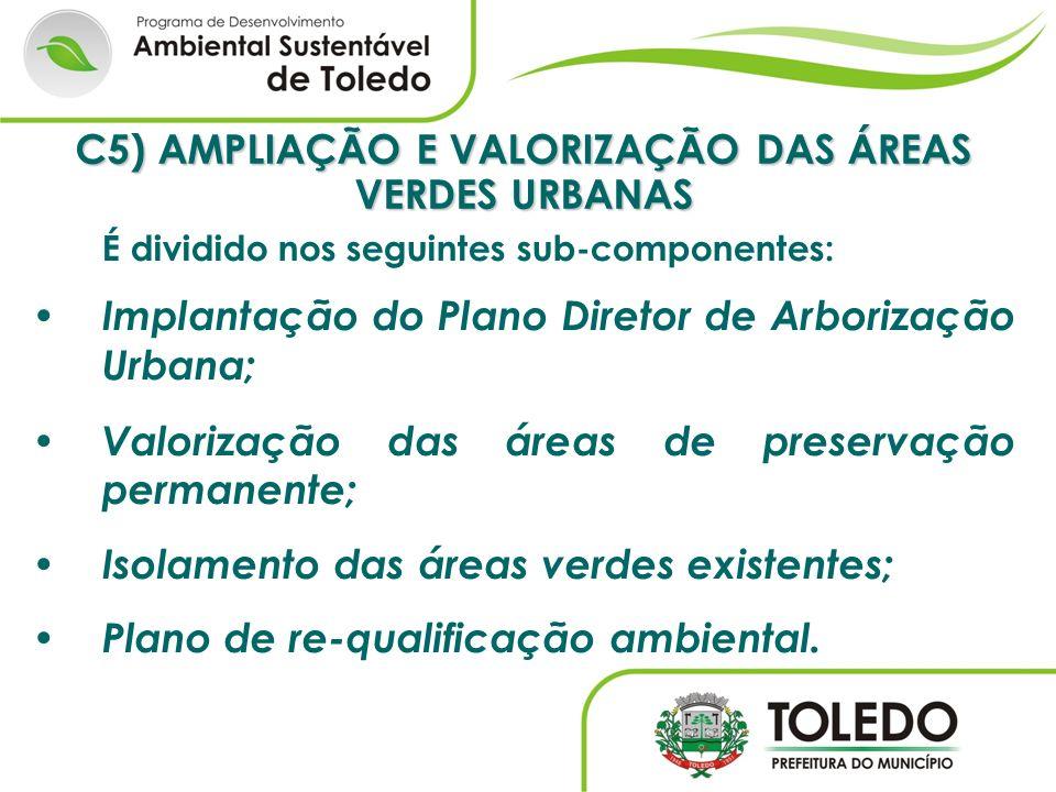 C5) AMPLIAÇÃO E VALORIZAÇÃO DAS ÁREAS VERDES URBANAS